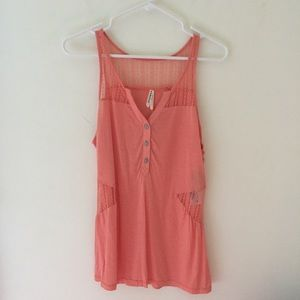 New | Gentle Fawn | Lace V Neck Tank Top